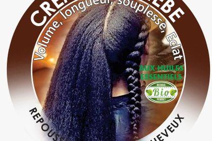 Etiquette pour boite de crème de cheveux