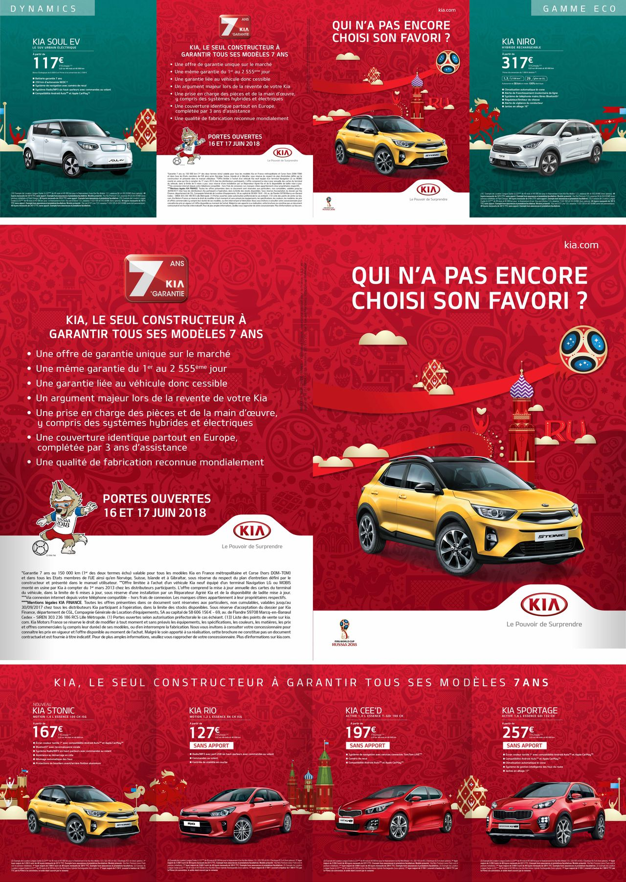 KIA - RUSSIA 2018 - Leaflet Gamme