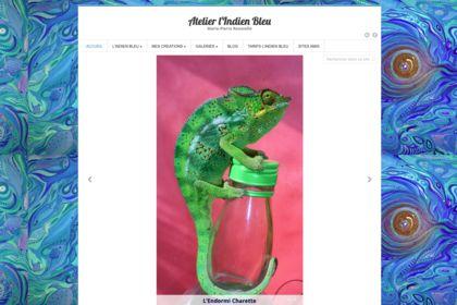 Site web Atelier l'Indien Bleu