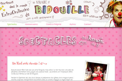 Site du Clown Bidouille