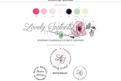 Identité visuelle Lovely Instants