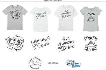 T-shirt, visuel calligraphie et dessin