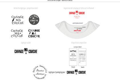 Identité visuelle- logotype pour body bébé