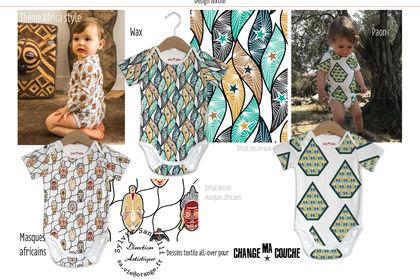 Dessin textile thème africa style