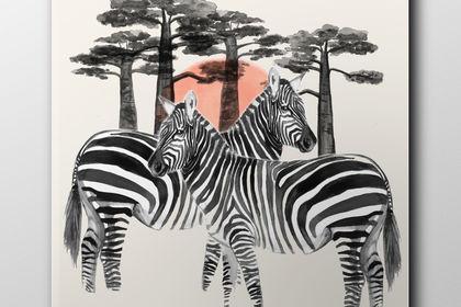 Illustration animaux de la savane