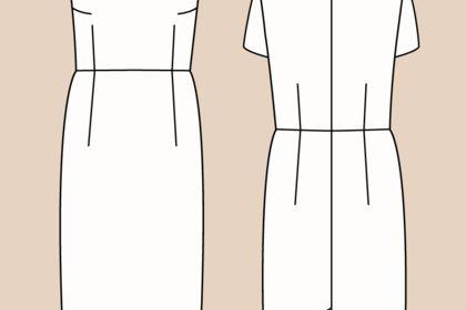Dessin de robe simplifié pour site internet