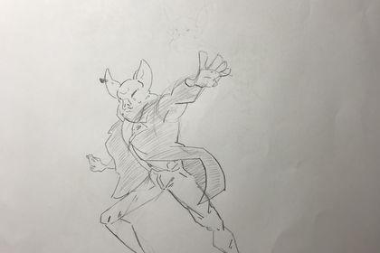 Cochon bandit croquis