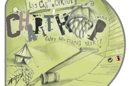 """Etiquette de bière """"Chapit'Hop"""" brassée spéciale"""