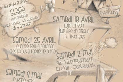 """Affiche programmation""""un Printemps à Douelle"""""""
