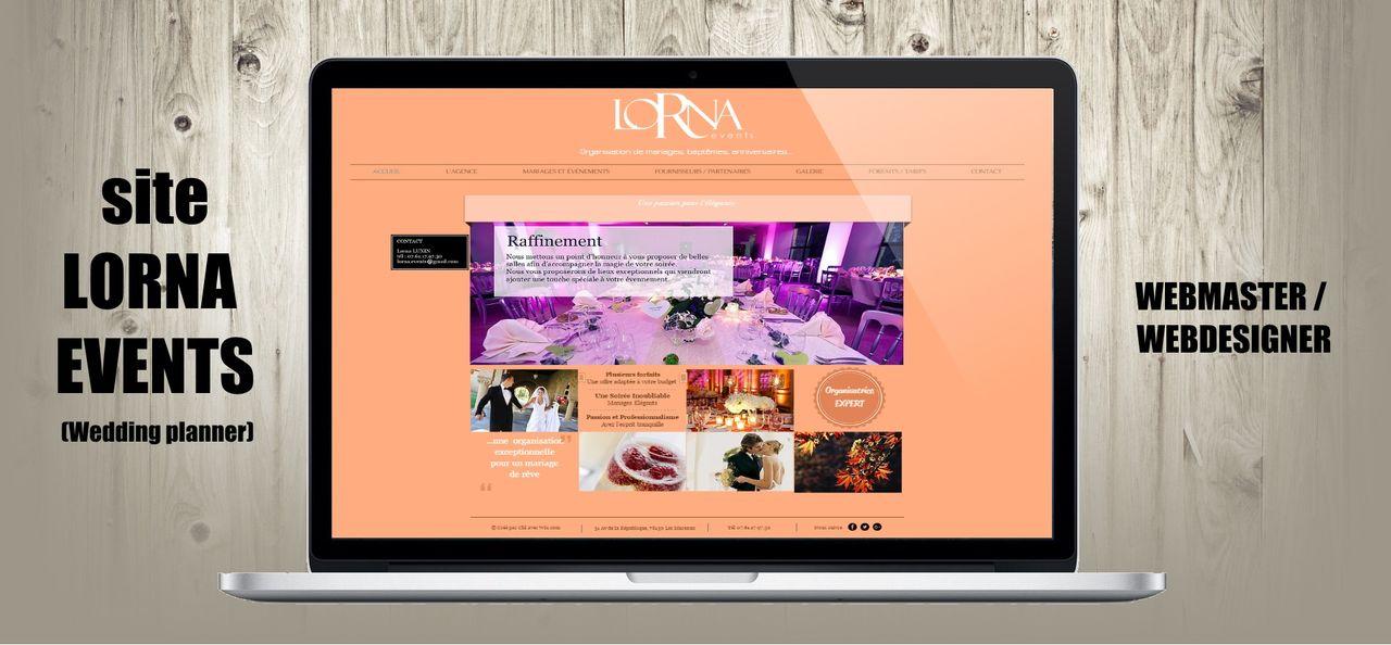 Création du site internet de Lorna Events