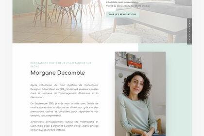 Design web - M. Decomble, Conceptrice d'Intérieur