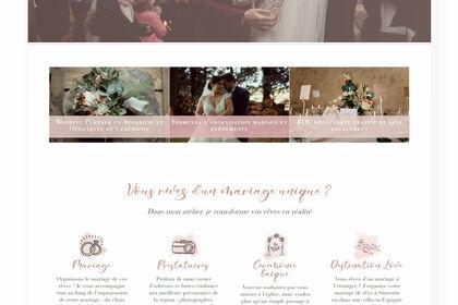 Site web - L'Atelier des Rêves - Page d'Accueil
