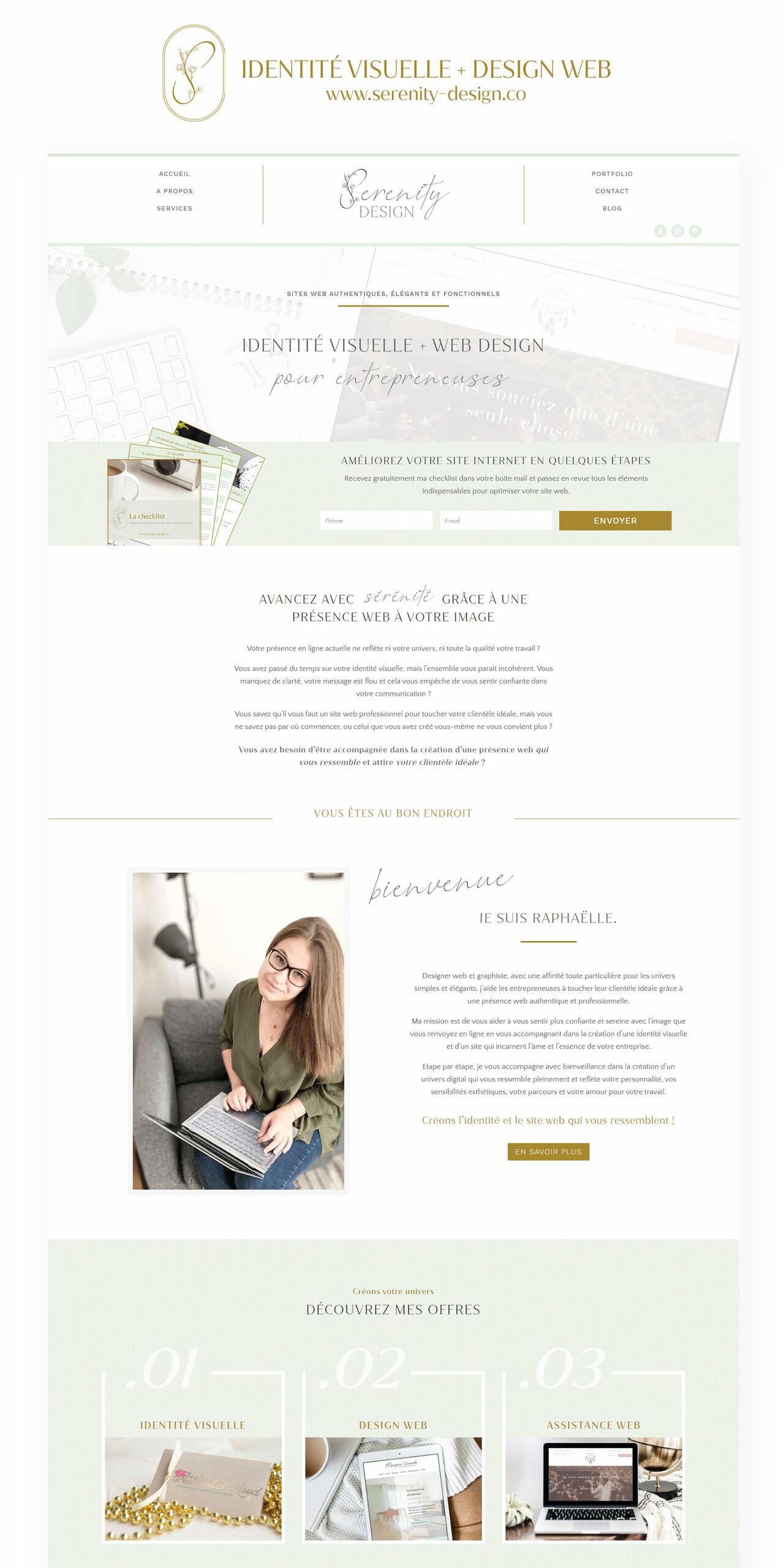 Design web - Serenity Design - Webdesigner
