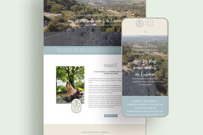 Création de site web studio de yoga