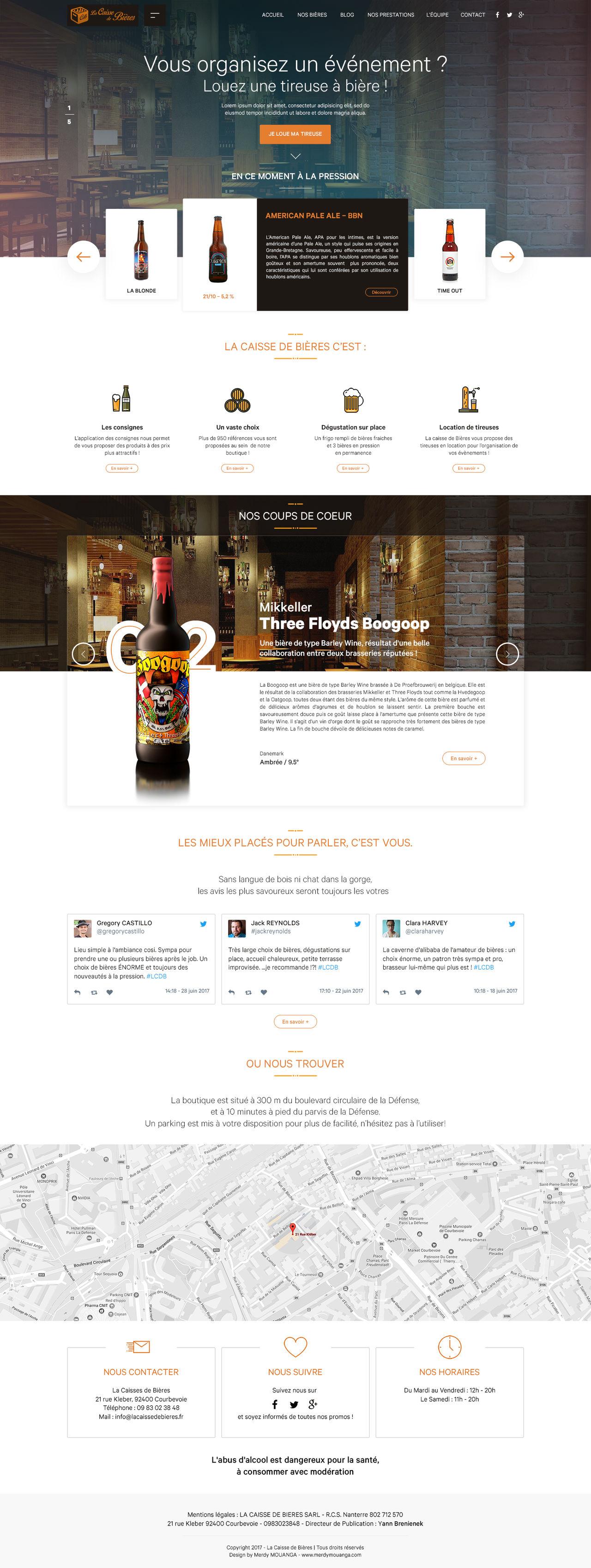 Redesign website Caisse de bières