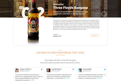 Redesign website Caisse de bières