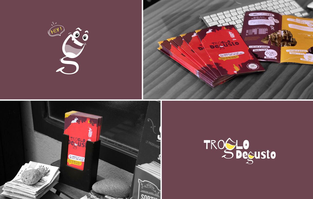 Troglo Degusto - Mascotte et Brochure
