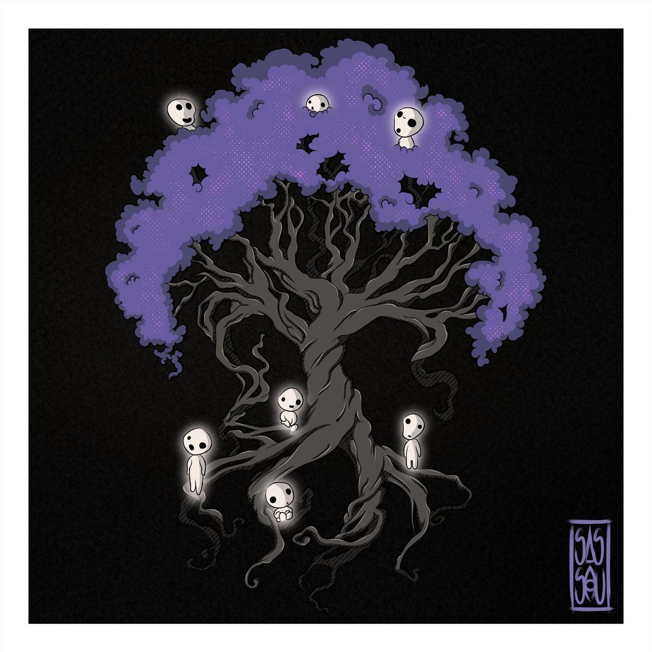 Des sylvains sur un arbre de vie
