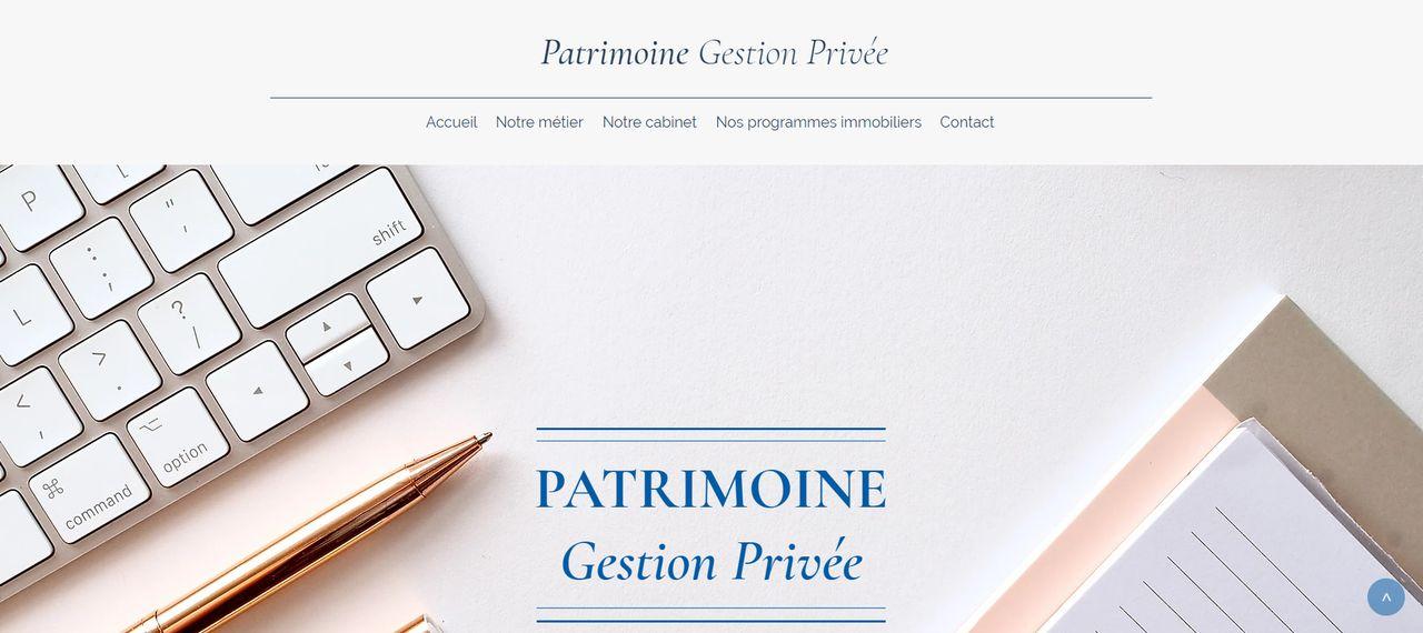 Site web Patrimoine Gestion Privée