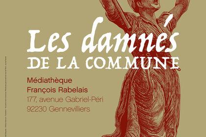 """Affiche exposition """"Les Damnés de la Commune"""""""