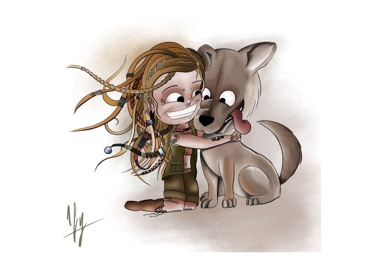 Une cliente et son chien