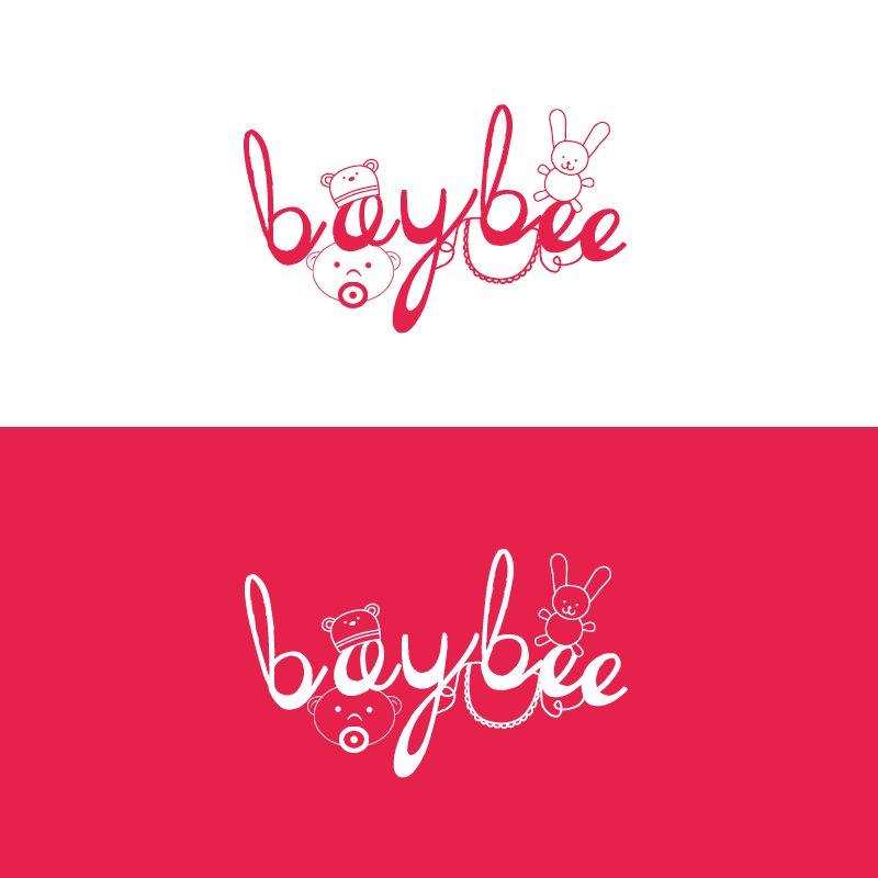 Logo Baybee rose/blanc