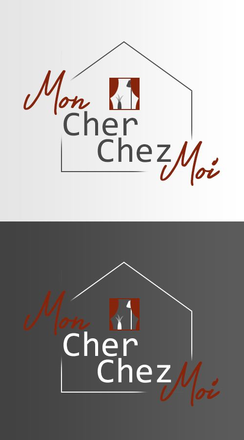 Logo Mon Cher Chez Moi noir/blanc