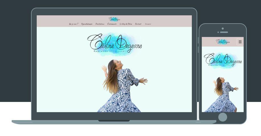 Site vitrine - Hypnothérapeute Céline DEGEANS