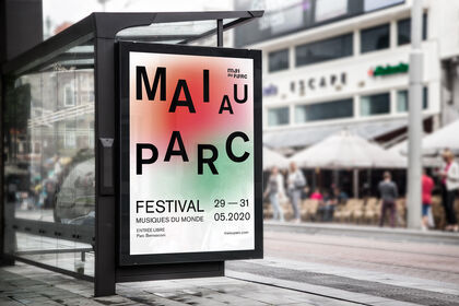Affiche pour le festival Mai au Parc
