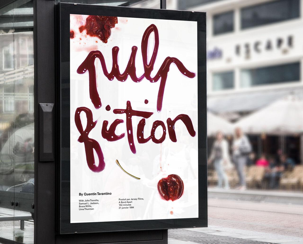 Affiche re-visitée de Pulp Fiction