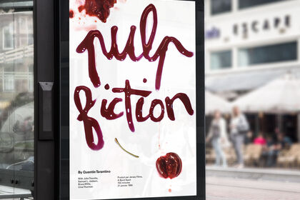 Affiche re-visitée de Pulp Fiction