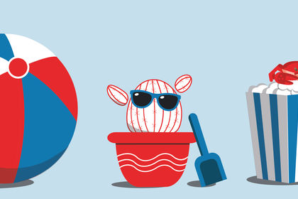 Mascotte webinaire pour Keepeek - Vacances d'été