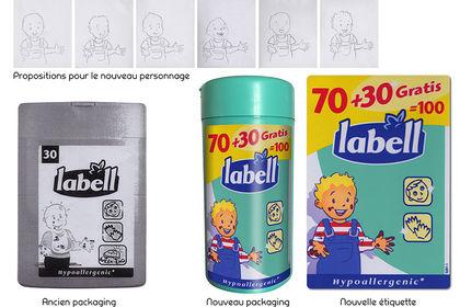 Étiquette pour Lingettes LABELL