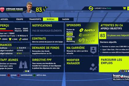 Réalisation Concept pour Menu FIFA 21