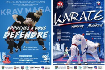 Réalisations d'Affiches Karaté & Krav Maga 2020