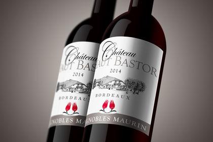 Création d'étiquette pour bouteille de vin