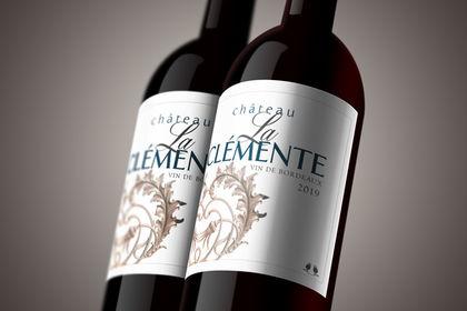 Packaging étiquette de vin