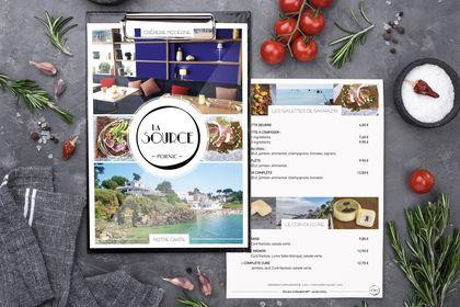 Conception et réalisation Menu restaurant