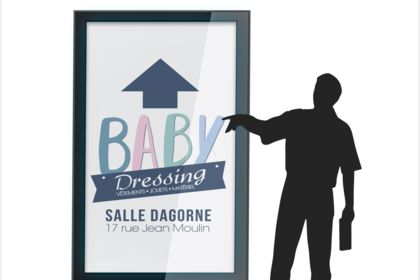 Affiche Baby dressing