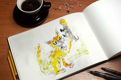 Illustration : Chat & souris
