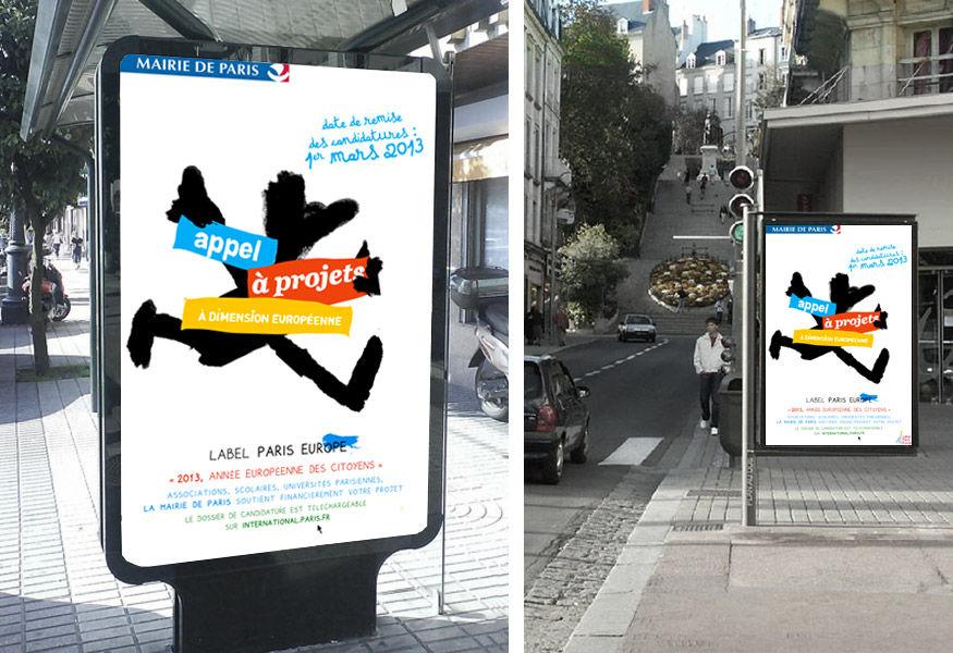 Proposition d'affiche Label Paris Europe