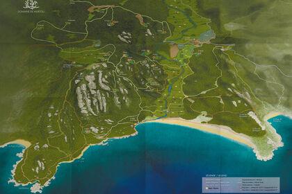 Plan illustré du Domaine de Murtoli