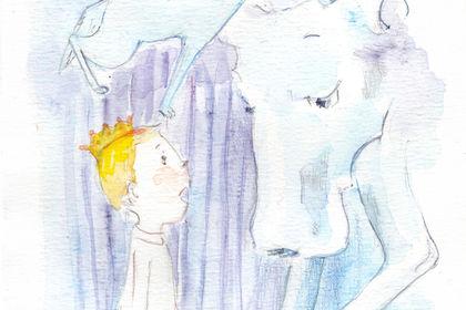 Le garçon et le loup (blond)