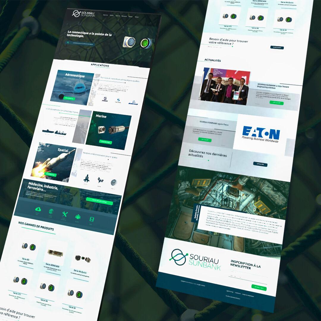 Webdesign Souriau Sunbank
