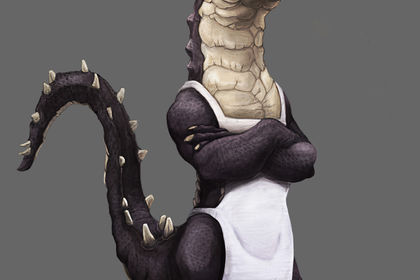 Alligator chef