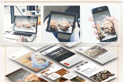 Webdesign restaurant fictif