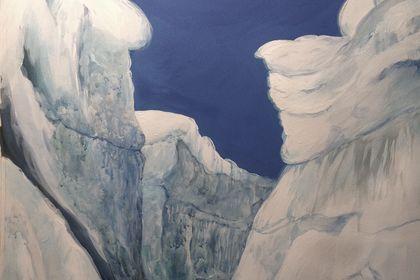"""""""Voyage à l'intérieur du Glacier"""".Oeil et Volume."""