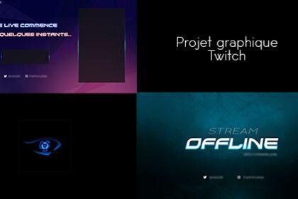 Création Logo & Overlays pour Streamer Twitch