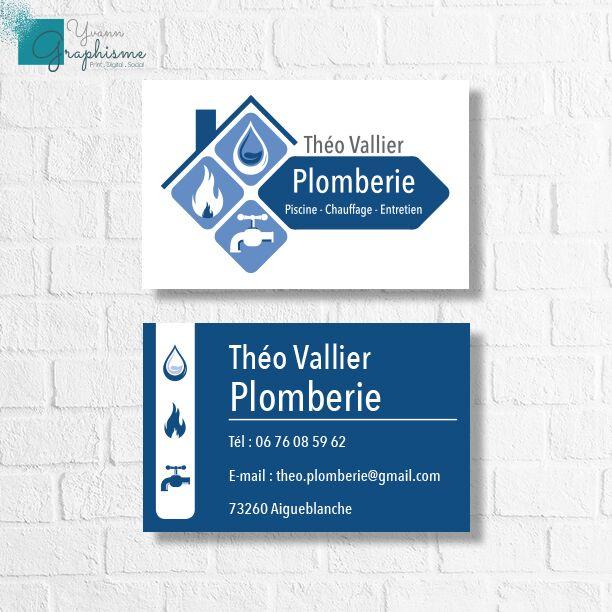 Cartes de visite Théo Plomberie