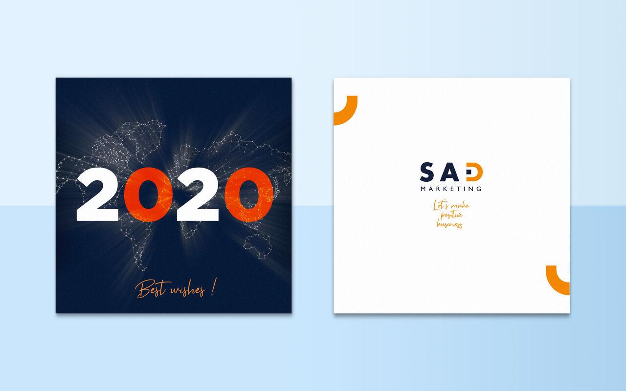 Carte de Voeux Sad Marketing